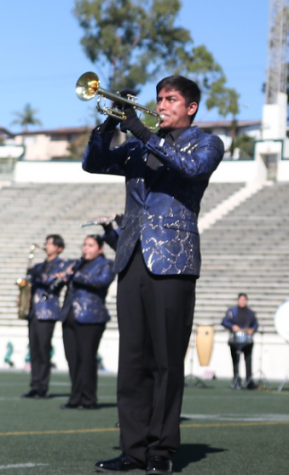 Brian Murillo, Trumpet 1 player and section leader, playing his heart out. By Kenneth M. Photography