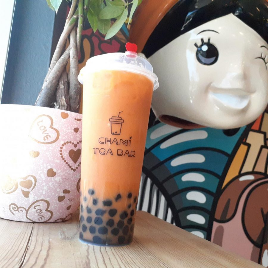Thai Tea boba I ordered from Chami Tea Bar in Whittier
